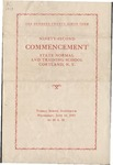 1933 Commencement Program