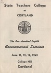 1949 Commencement Program
