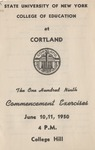1950 Commencement Program