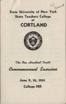 1951 Commencement Program