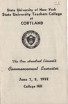 1952 Commencement Program