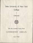 1964 Commencement Program