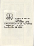 1983 Commencement Program