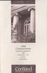 1996 Commencement Program