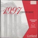 1997 Commencement Program