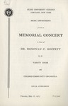 Memorial Concert by State University of New York at Cortland