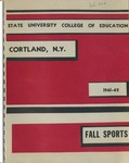 1961-1962 Fall Sports Guide by State University of New York College at Cortland