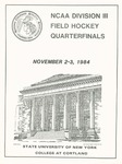 1984 Quarterfinals, Field Hockey by State University of New York College at Cortland