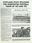 1932-1933 Team Guide, Football by State University of New York College at Cortland