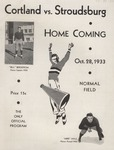 1933 Program, Football by State University of New York College at Cortland