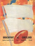 1953 Program, Football by State University of New York College at Cortland