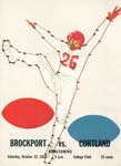 1955 Program, Football by State University of New York College at Cortland