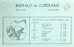 1978 Program, Football by State University of New York College at Cortland