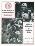1988 Program, Football by State University of New York College at Cortland