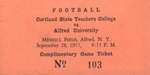 1957 Ticket, Football