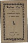 Agonian, Play Program, 1916