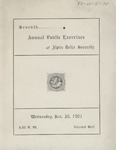 Alpha Delta, 7th Annual Public Exercise, 1901