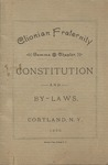 Clionian, Constitution, 1892 by State University of New York at Cortland