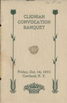 Clionian, Convocation Banquet, 1910 by State University of New York at Cortland
