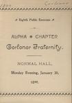 Corlonor, 8th Annual Public Exercise, 1899