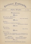 Corlonor, Program, 1892