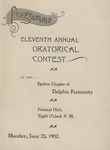 Delphic, 11th Annual Oratorical Contest by State University of New York at Cortland