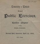 Delphic, 23rd Annual Exercises