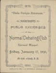 Normal Debate Club, 14th Public Exercises by State University of New York at Cortland