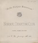 Normal Debate Club, Program