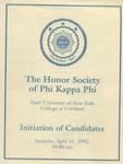 Phi Kappa Phi, Induction Program