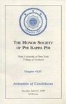 Phi Kappa Phi, Induction Program by State University of New York at Cortland