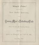 Young Men's Debate Club, 1st Public Exercises