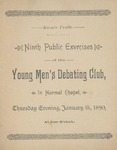 Young Men's Debate Club, 9th Public Exercises