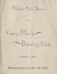 Young Men's Debate Club, 15th Public Exercises by State University of New York at Cortland