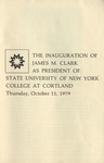 Inauguration Program by State University of New York College at Cortland