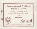 Inauguration Ceremony Ticket
