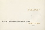 Inauguration Program by State University of New York at Cortland