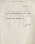 Letter from Ben Sueltz
