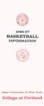 1966-67 Team Guide, Men's Basketball
