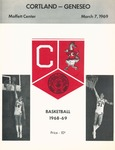 1969 Program, Men's Basketball by State University of New York College at Cortland