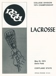 1974 Championship, Men's Lacrosse by State University of New York College at Cortland