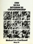 1980 Championship, Men's Lacrosse by State University of New York College at Cortland