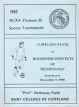 1983 Tournament, men's Soccer by State University of New York College at Cortland