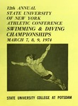 1974 Championship, Men's Swimming by State University of New York College at Cortland