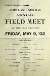 1902 Program, Men's Track & Field by State University of New York College at Cortland