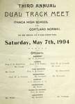 1904 Program, Men's Track & Field by State University of New York College at Cortland