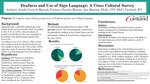 Deafness and Use of Sign Language: A Cross Cultural Survey by Arielle Curry and Hannah Truman