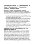 Illegitimate Control: An Acknowledgement of False White Supremacy (2020-2021) by Whitman Ives