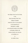 Inauguration Invitation by State University of New York at Cortland