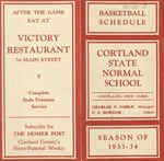 1933-34 Winter Athletic Schedule by State University of New York College at Cortland